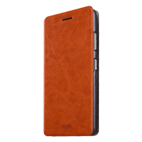 MOFI ZTE Nubia Z11 Max Crazy Horse Texture Horizontal Flip Leather Case with Holder(Brown)