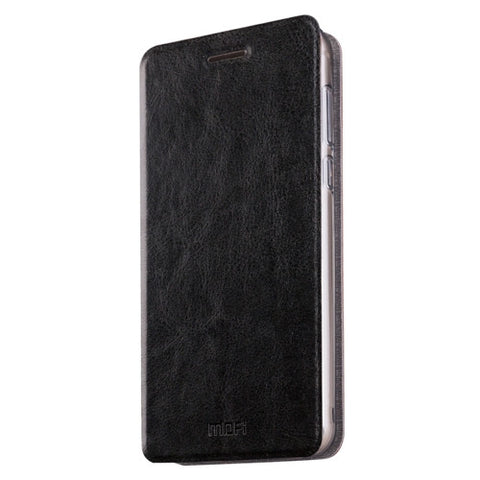 MOFI Meizu MX6 Crazy Horse Texture Horizontal Flip Leather Case with Holder(Black)