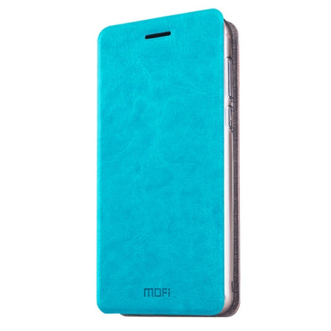 MOFI Meizu MX6 Crazy Horse Texture Horizontal Flip Leather Case with Holder(Blue)