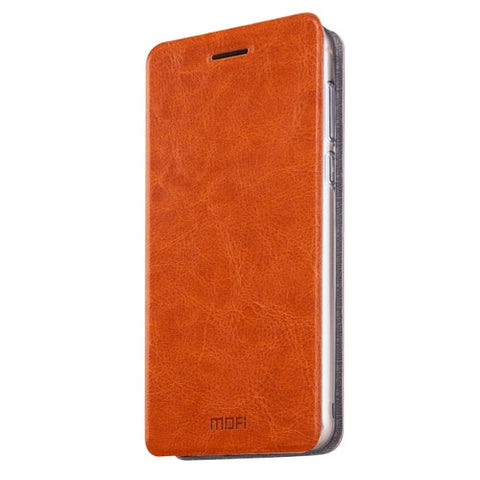 MOFI Meizu MX6 Crazy Horse Texture Horizontal Flip Leather Case with Holder(Brown)