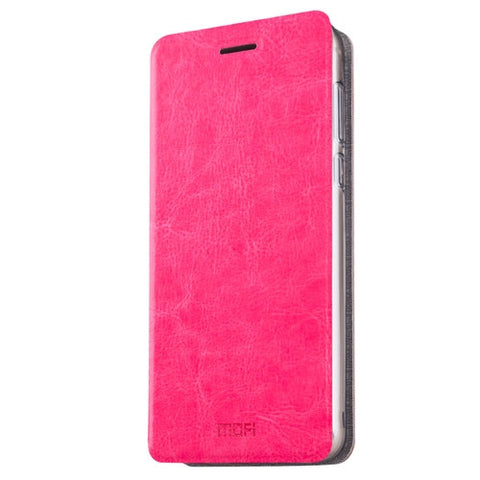 MOFI Xiaomi Redmi Pro Crazy Horse Texture Horizontal Flip Leather Case with Holder(Magenta)