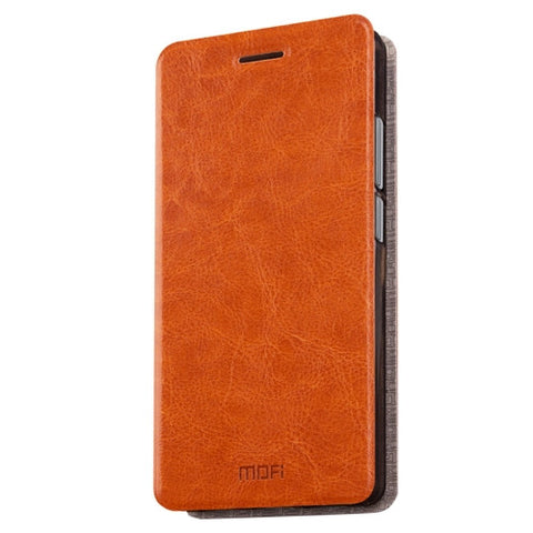 MOFI 360 QiKU N4S Crazy Horse Texture Horizontal Flip Leather Case with Holder(Brown)