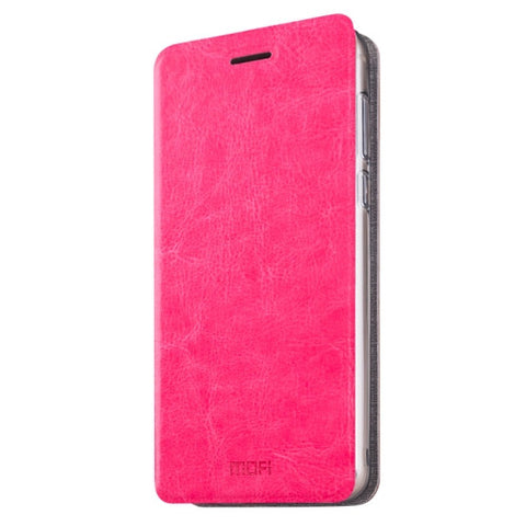 MOFI Xiaomi Redmi 3X Crazy Horse Texture Horizontal Flip Leather Case with Holder(Magenta)