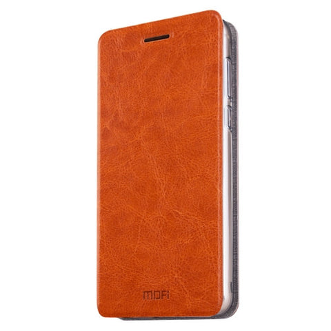 MOFI Xiaomi Redmi 3X Crazy Horse Texture Horizontal Flip Leather Case with Holder(Brown)