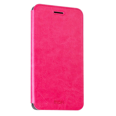 MOFI Huawei Honor 5 Crazy Horse Texture Horizontal Flip Leather Case with Holder(Magenta)