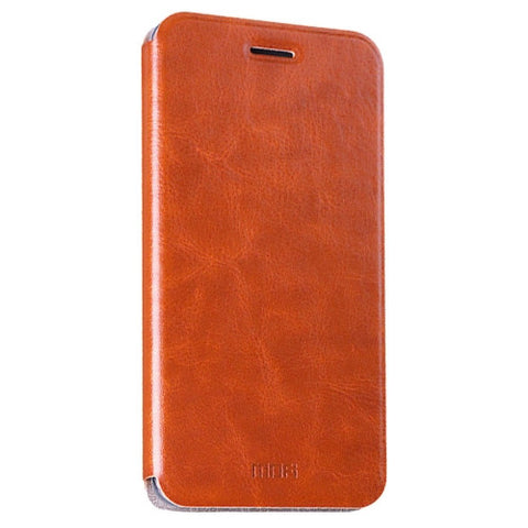 MOFI Huawei Honor 5 Crazy Horse Texture Horizontal Flip Leather Case with Holder(Brown)