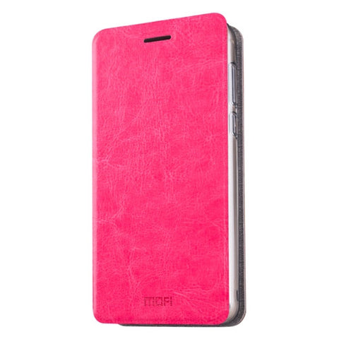 MOFI Meizu M3E Crazy Horse Texture Horizontal Flip Leather Case with Holder(Magenta)