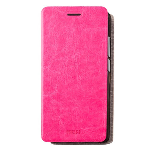 MOFI Xiaomi Redmi 4A Crazy Horse Texture Horizontal Flip Leather Case with Holder (Magenta)