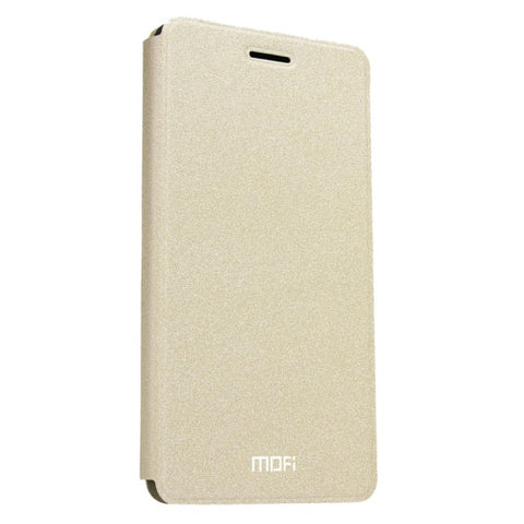 MOFI OPPO A59 Crazy Horse Texture Horizontal Flip Leather Case with Holder(Gold)