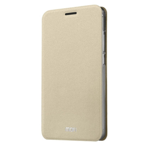 MOFI Meizu M3 Note Crazy Horse Texture Horizontal Flip Leather Case with Holder(Gold)