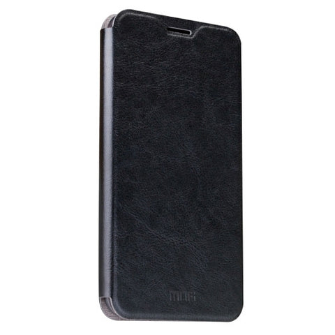 MOFI OPPO R9 Crazy Horse Texture Horizontal Flip Leather Case with Holder(Black)