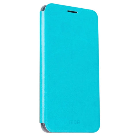 MOFI OPPO R9 Crazy Horse Texture Horizontal Flip Leather Case with Holder(Blue)