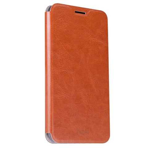 MOFI OPPO R9 Crazy Horse Texture Horizontal Flip Leather Case with Holder(Brown)