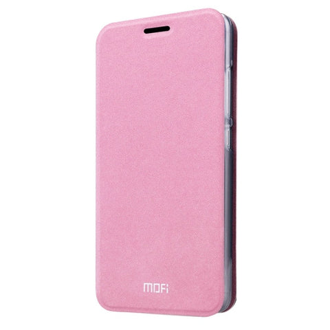 MOFI for Lenovo Lemon K5 Note Crazy Horse Texture Horizontal Flip Leather Case with Holder(Pink)