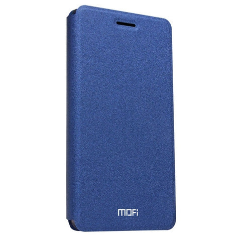 MOFI Huawei P9 Lite Crazy Horse Texture Horizontal Flip Leather Case with Holder(Dark Blue)