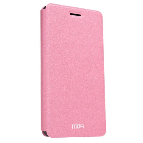 MOFI Huawei P9 Lite Crazy Horse Texture Horizontal Flip Leather Case with Holder(Pink)