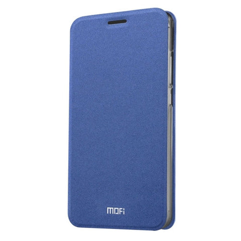 MOFI Xiaomi Redmi 3 Pro Crazy Horse Texture Horizontal Flip Leather Case with Holder(Dark Blue)