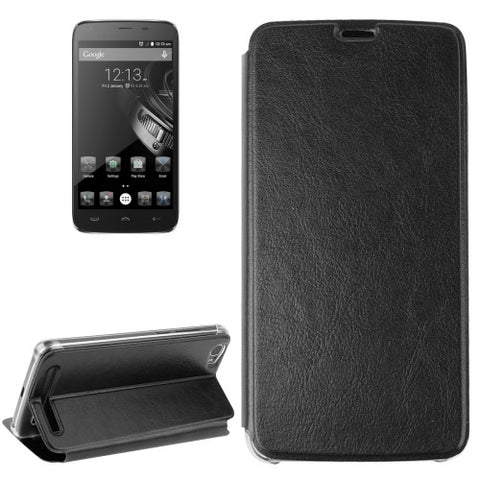 Horizontal Flip Leather Case with Holder for HOMTOM HT6(Black)