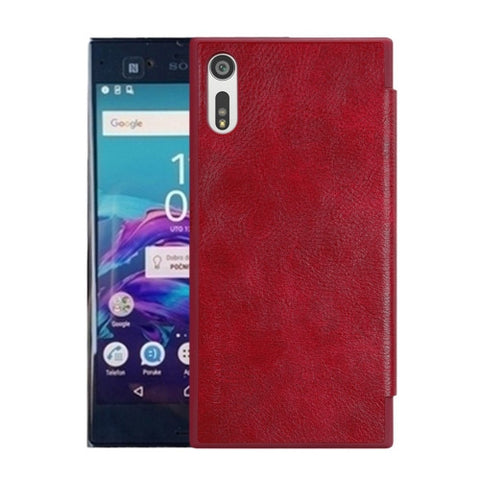 NILLKIN QIN Series For Sony Xperia XZ Business Style Horizontal Flip Leather Case with Card Slot(Red)