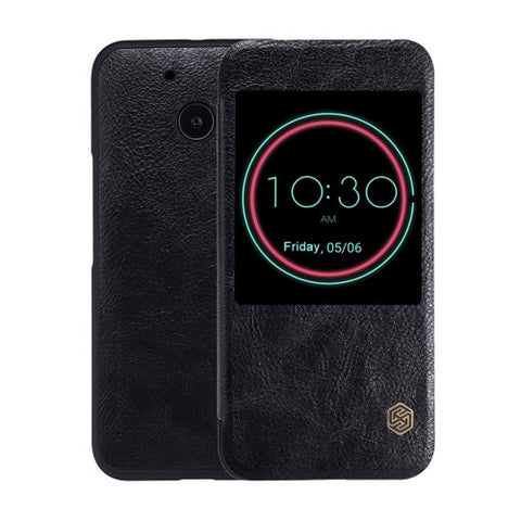 NILLKIN QIN Series For HTC 10 Business Style Horizontal Flip Leather Case with Call Display ID & Sleep / Wake-up Function(Black)