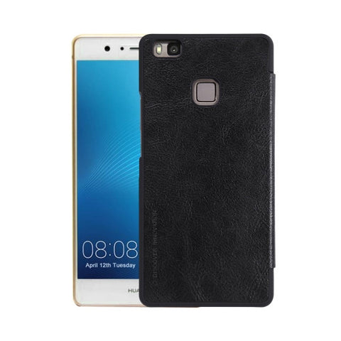 NILLKIN QIN Series Huawei P9 Lite Business Style Horizontal Flip Leather Case with Card Slot(Black)