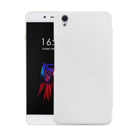 NILLKIN QIN Series OnePlus X Business Style Horizontal Flip Leather Case with Sleep / Wake-up Function(White)