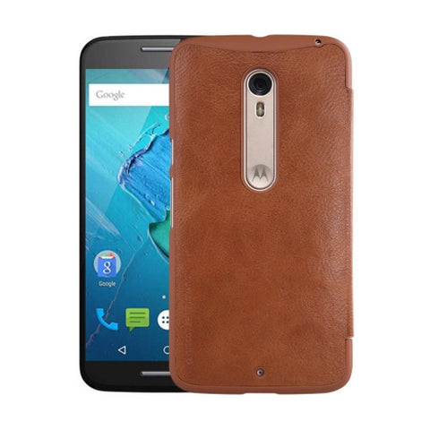 NILLKIN QIN Series for Motorola Moto X Style / XT1570 Business Style Horizontal Flip Leather Case with Card Slot(Brown)
