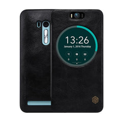 NILLKIN QIN Series for Asus Zenfone Selfie / ZD551KL Business Style Horizontal Flip Leather Case with Call Display ID & Sleep / Wake-up Function(Black)