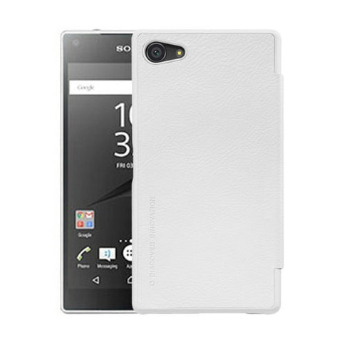 NILLKIN QIN Series for Sony Xperia Z5 Compact Business Style Horizontal Flip Leather Case(White)
