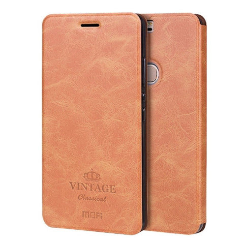 MOFI VINTAGE Huawei Honor V8 Crazy Horse Texture Horizontal Flip Leather Case with Card Slot & Holder(Brown)