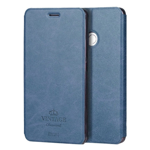 MOFI VINTAGE Xiaomi Mi Max Crazy Horse Texture Horizontal Flip Leather Case with Card Slot & Holder & Sleep / Wake-up Function(Dark Blue)