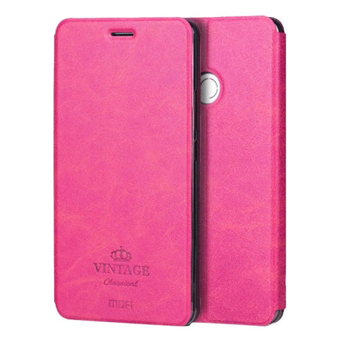 MOFI VINTAGE Xiaomi Mi Max Crazy Horse Texture Horizontal Flip Leather Case with Card Slot & Holder & Sleep / Wake-up Function(Magenta)