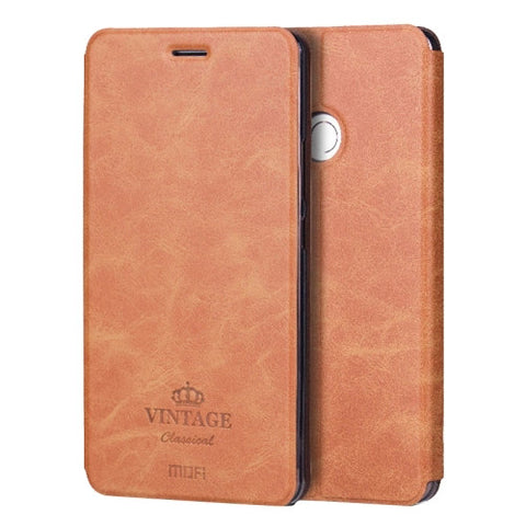 MOFI VINTAGE Xiaomi Mi Max Crazy Horse Texture Horizontal Flip Leather Case with Card Slot & Holder & Sleep / Wake-up Function(Brown)