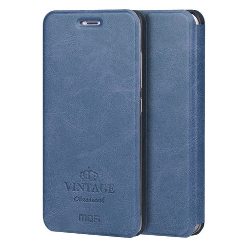 MOFI VINTAGE Xiaomi Mi 5 Crazy Horse Texture Horizontal Flip Leather Case with Card Slot & Holder & Sleep / Wake-up Function(Dark Blue)