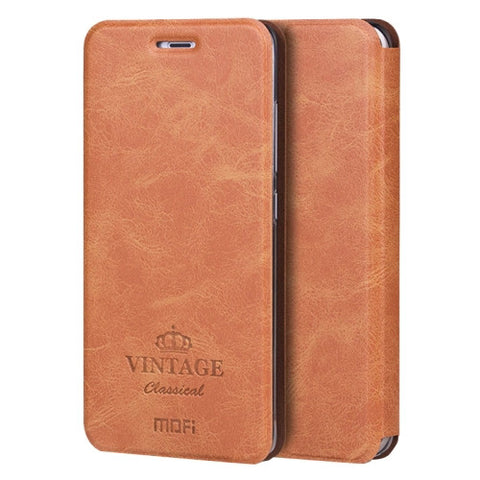 MOFI VINTAGE Xiaomi Mi 5 Crazy Horse Texture Horizontal Flip Leather Case with Card Slot & Holder & Sleep / Wake-up Function(Brown)