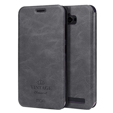 MOFI VINTAGE for Asus ZenFone Max / ZC550KL Crazy Horse Texture Horizontal Flip Leather Case with Card Slot & Holder(Black)