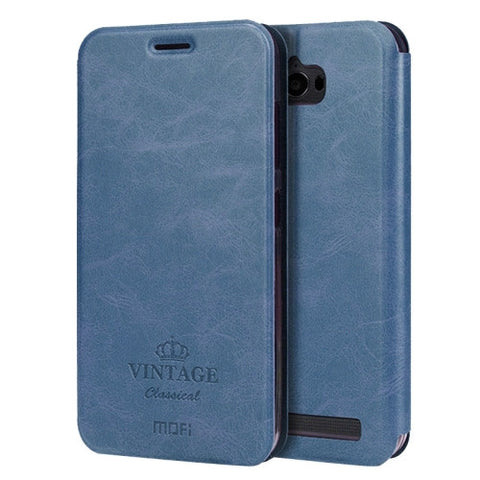 MOFI VINTAGE for Asus ZenFone Max / ZC550KL Crazy Horse Texture Horizontal Flip Leather Case with Card Slot & Holder(Dark Blue)
