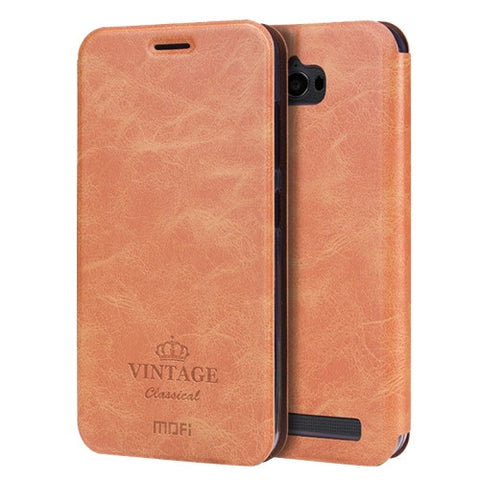 MOFI VINTAGE for Asus ZenFone Max / ZC550KL Crazy Horse Texture Horizontal Flip Leather Case with Card Slot & Holder(Brown)