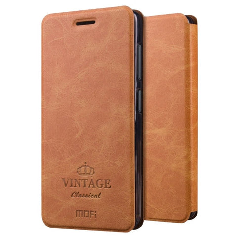 MOFI VINTAGE for Lenovo ZUK Z2 Crazy Horse Texture Horizontal Flip Leather Case with Card Slot & Holder(Brown)