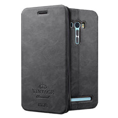 MOFI VINTAGE for Asus Zenfone Selfie / ZD551KL Crazy Horse Texture Horizontal Flip Leather Case with Card Slot & Holder & Sleep / Wake-up Function(Black)