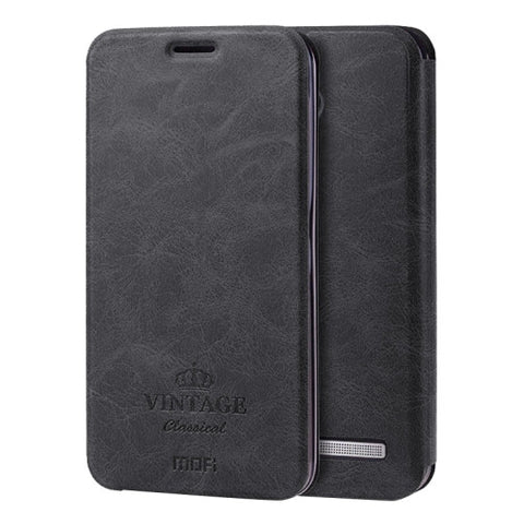 MOFI VINTAGE for ASUS Zenfone 2 5.5inch ZE550ML / ZE551ML Crazy Horse Texture Horizontal Flip Leather Case with Card Slot & Holder(Black)