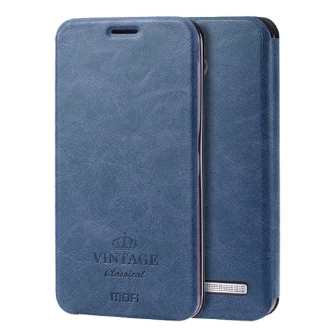 MOFI VINTAGE for ASUS Zenfone 2 5.5inch ZE550ML / ZE551ML Crazy Horse Texture Horizontal Flip Leather Case with Card Slot & Holder(Dark Blue)