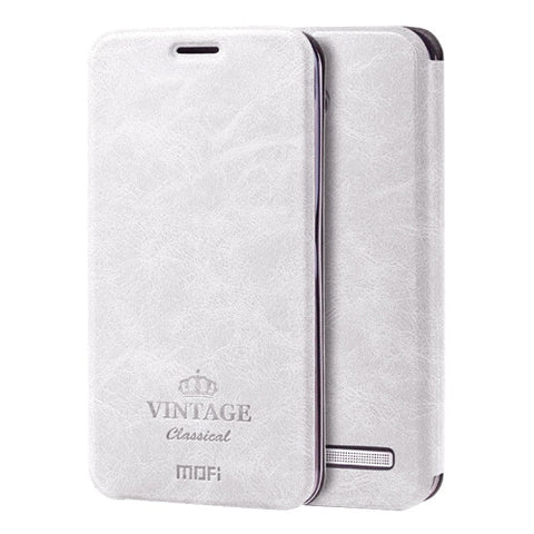 MOFI VINTAGE for ASUS Zenfone 2 5.5inch ZE550ML / ZE551ML Crazy Horse Texture Horizontal Flip Leather Case with Card Slot & Holder(White)