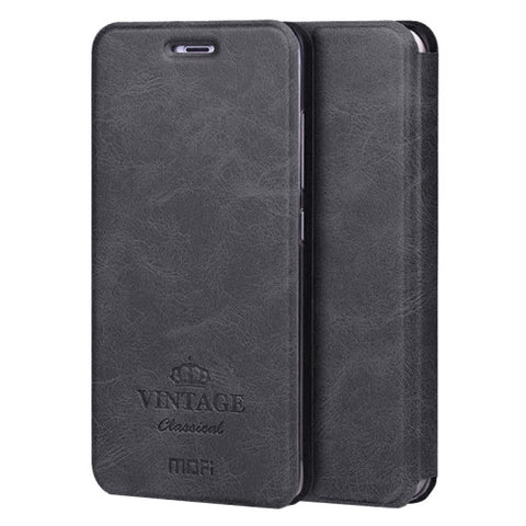 MOFI VINTAGE Xiaomi Mi 5s Crazy Horse Texture Horizontal Flip Leather Case with Card Slot & Holder & Sleep & Wake-up Function(Black)