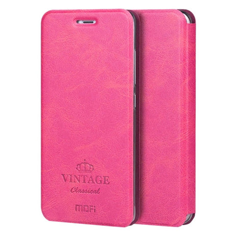 MOFI VINTAGE Xiaomi Mi 5s Crazy Horse Texture Horizontal Flip Leather Case with Card Slot & Holder & Sleep & Wake-up Function(Magenta)