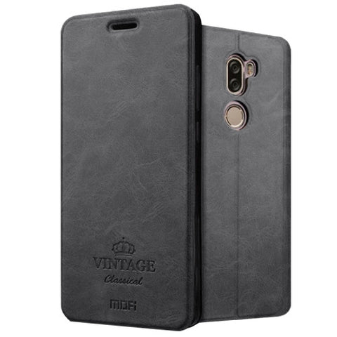 MOFI VINTAGE Xiaomi Mi 5s Plus Crazy Horse Texture Horizontal Flip Leather Case with Card Slot & Holder & Sleep & Wake-up Function(Black)