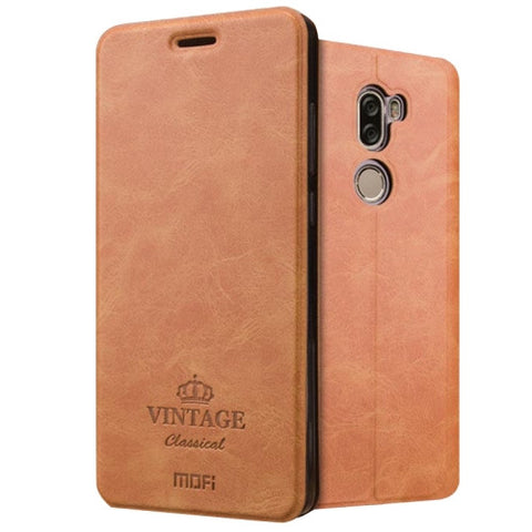MOFI VINTAGE Xiaomi Mi 5s Plus Crazy Horse Texture Horizontal Flip Leather Case with Card Slot & Holder & Sleep & Wake-up Function(Brown)