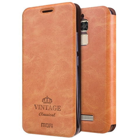 MOFI VINTAGE for Asus Zenfone 3 Max ‏/ ZC520TL Crazy Horse Texture Horizontal Flip Leather Case with Card Slot & Holder(Brown)