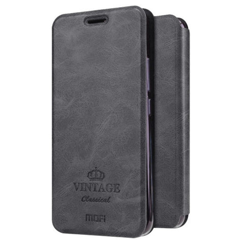MOFI VINTAGE for Meizu M5 Crazy Horse Texture Horizontal Flip Leather Case with Card Slot & Holder(Black)