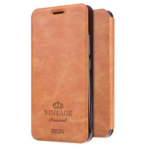 MOFI VINTAGE for Meizu M5 Crazy Horse Texture Horizontal Flip Leather Case with Card Slot & Holder(Brown)